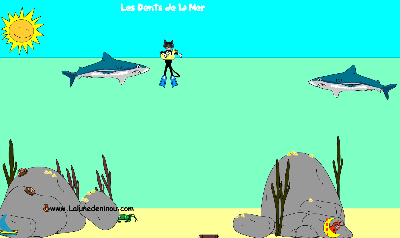 Jeux De Requins - Jeux Pour Enfants Sur Lalunedeninou - serapportantà Jeux Educatif En Ligne Gratuit