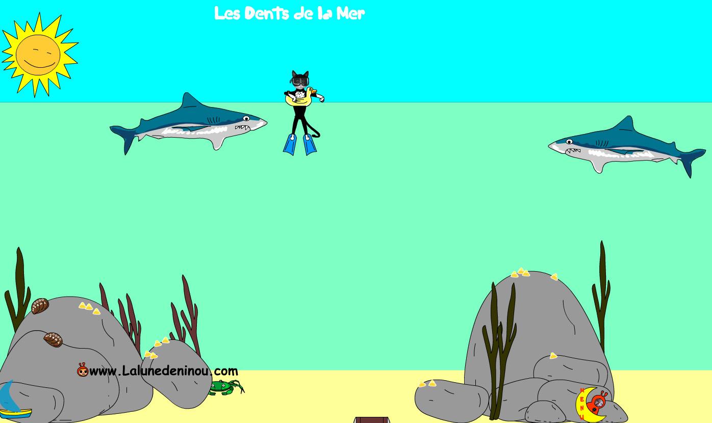 Jeux De Requins - Jeux Pour Enfants Sur Lalunedeninou - tout Jeux Gratuit Requin Blanc