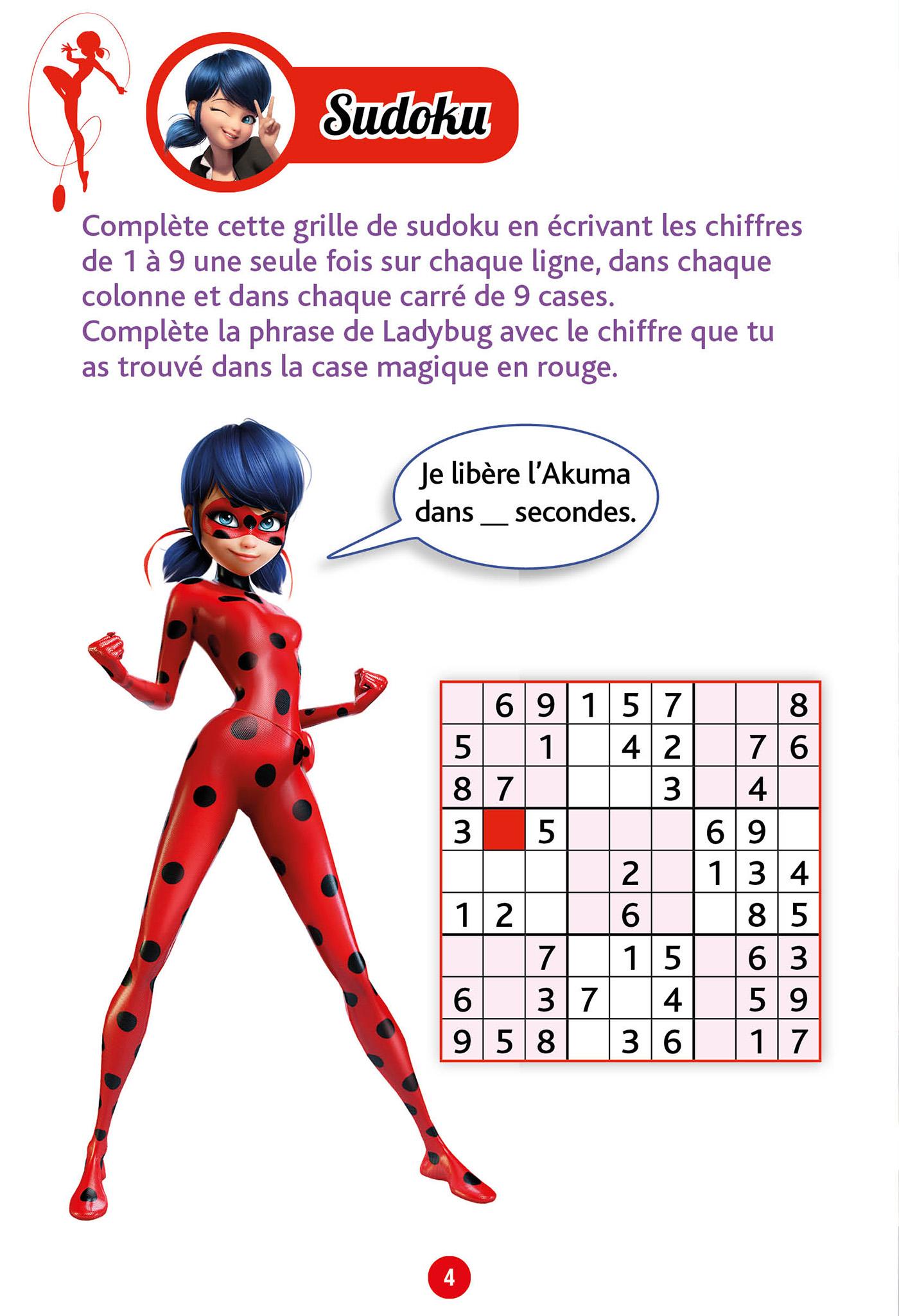 Jeux De Vacances Miraculous, Du Cm1 Au Cm2 destiné Sudoku Junior À Imprimer