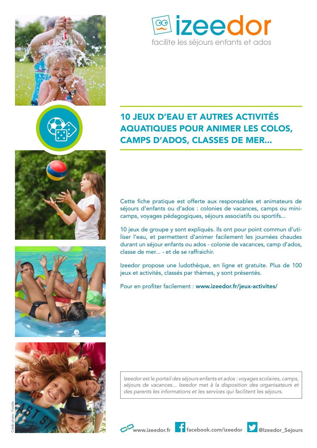 Jeux D'eau Et Activités Aquatiques Pour Enfants Et Ados By à Jeux Pédagogiques En Ligne