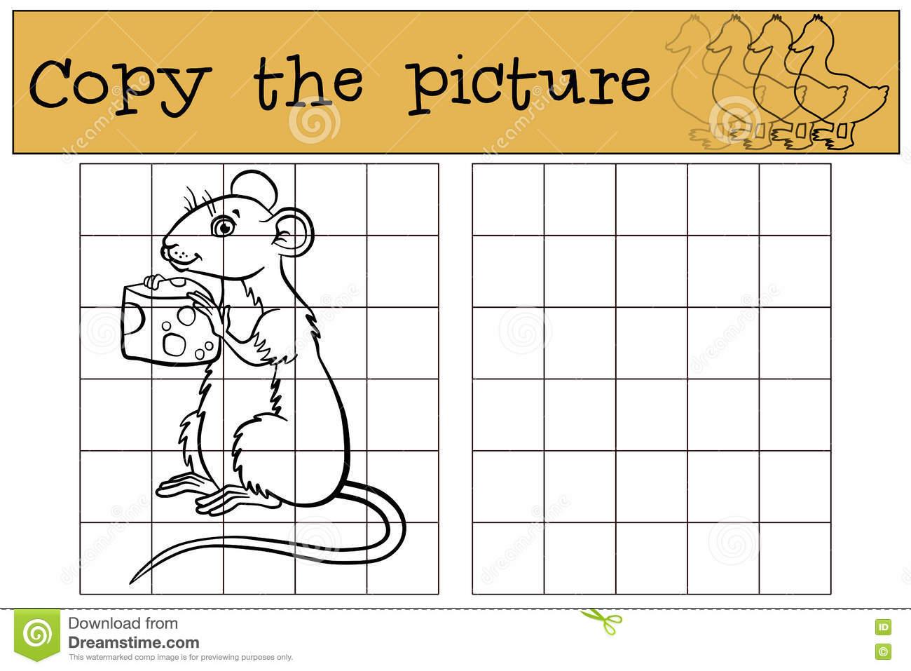 Jeux D'enfants : Copiez La Photo Petite Souris Mignonne avec Jeux De La Petite Souris