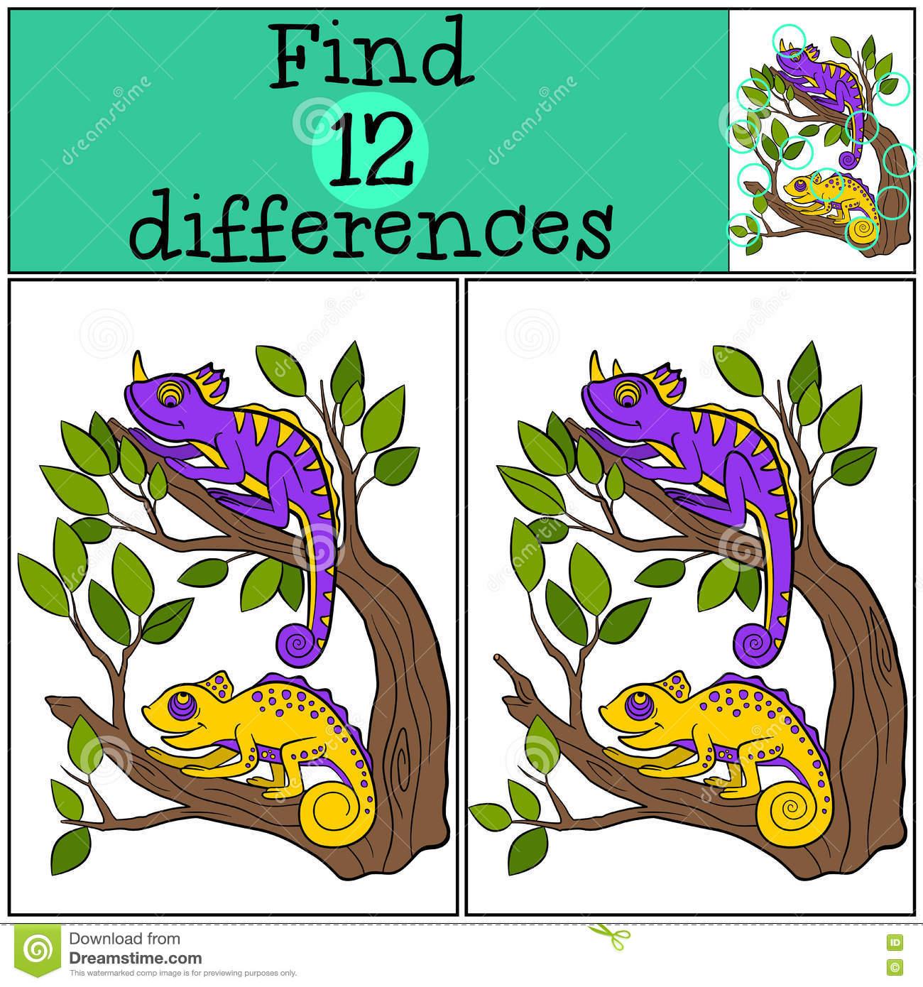 Jeux D'enfants : Différences De Découverte Illustration De concernant Jeux De Différence