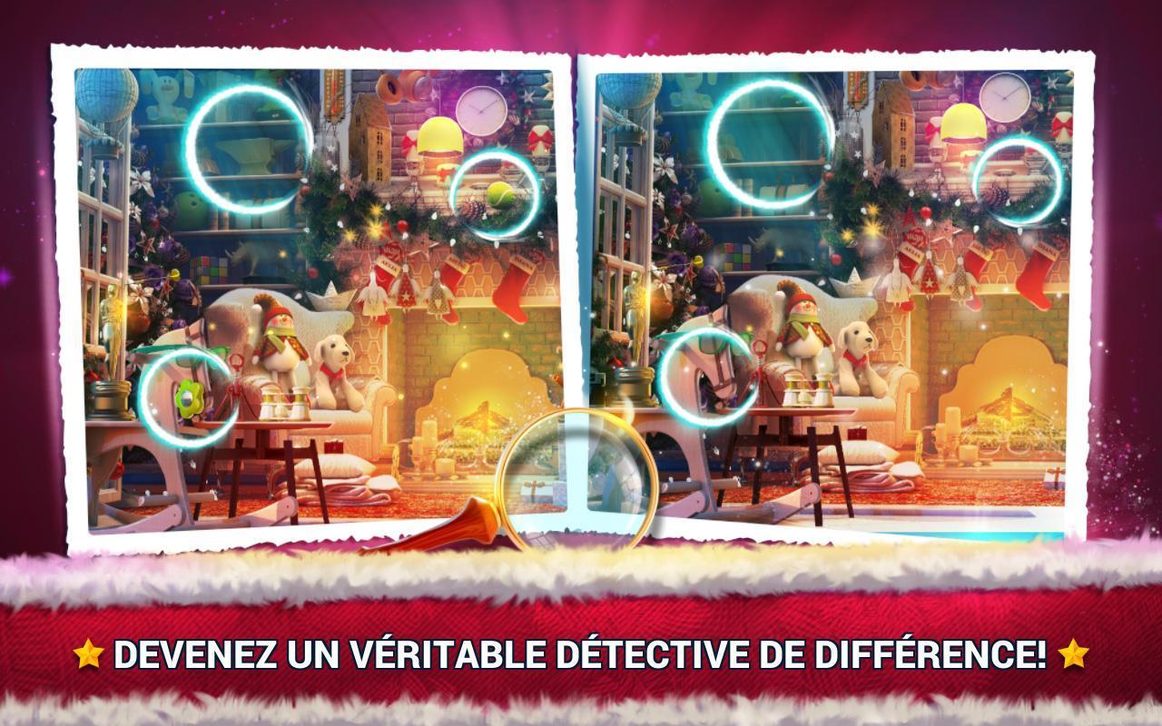 Jeux Des Différences Noël - Jeux Des Erreurs Pour Android tout Jeux De Différence