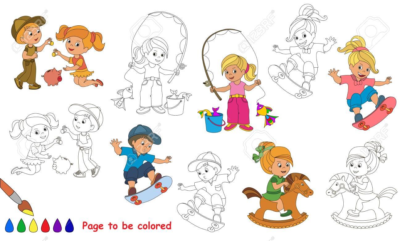 Jeux D'été Pour Enfants À Colorier. Livre De Coloriage Pour Éduquer Les  Enfants. Apprendre Les Couleurs Jeu Éducatif Visuel Jeu Facile Et Éducation avec Jeux Pour Apprendre Les Couleurs