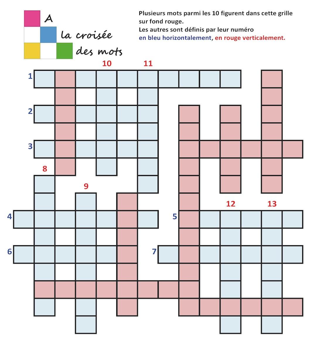 Jeux « Dis-Moi Dix Mots Semés Au Loin pour Jeux A Imprimer Pour 10 Ans