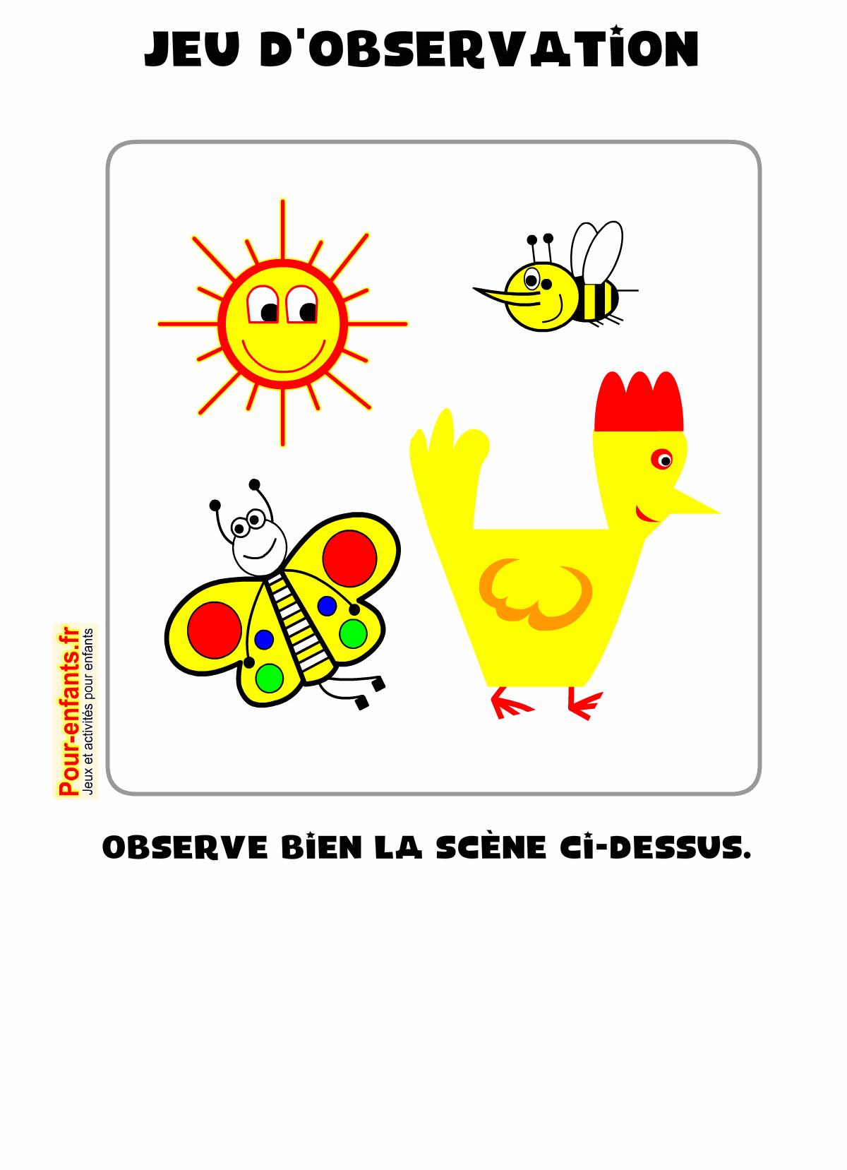 Jeux D'observation À Imprimer Maternelle Ps Ms Gs Pour pour Jeux Pour Enfan Gratuit