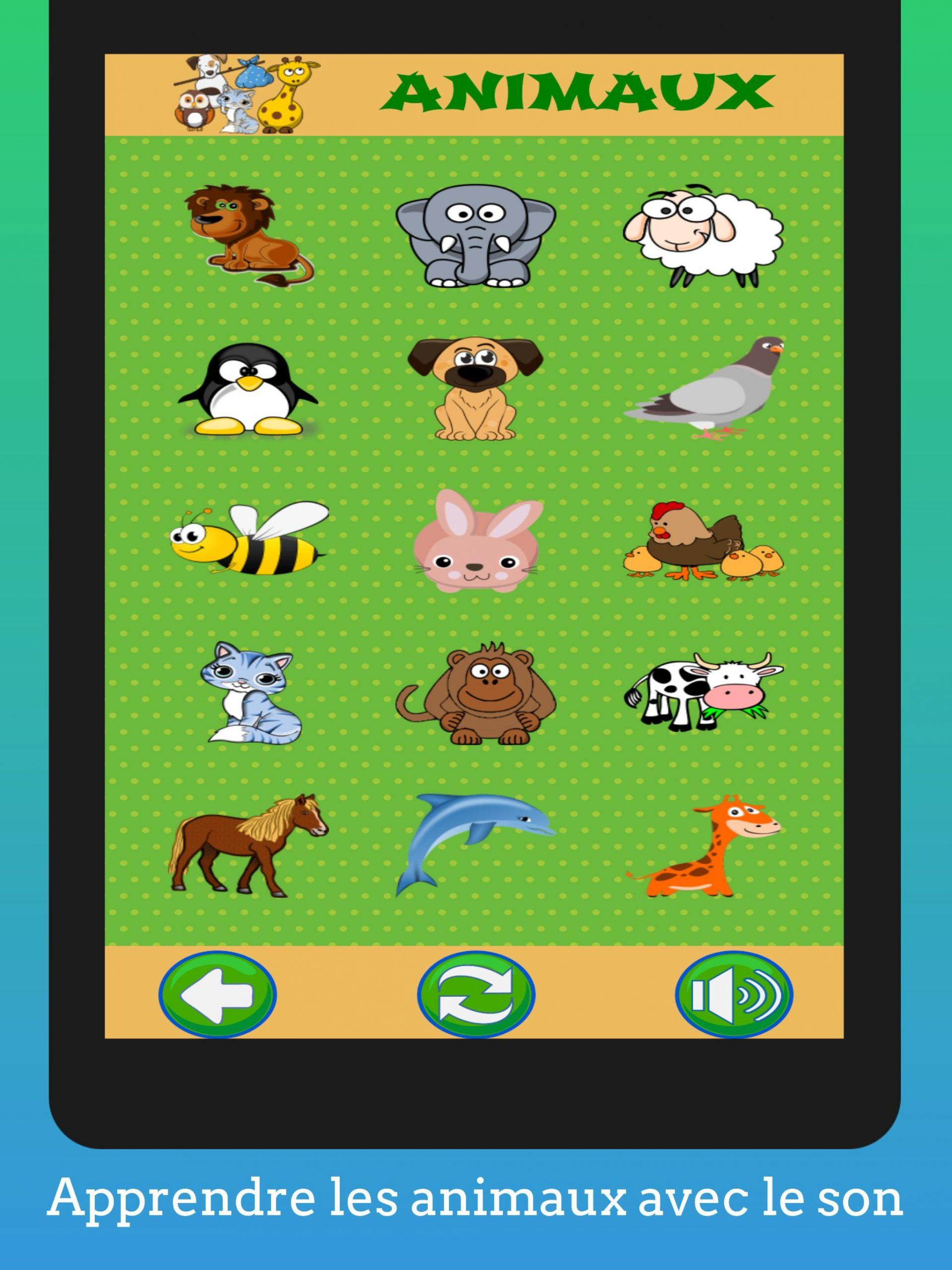 Jeux Éducatifs Pour Enfants (Préscolaire) Français Pour avec Apprendre Les Animaux Jeux Éducatifs