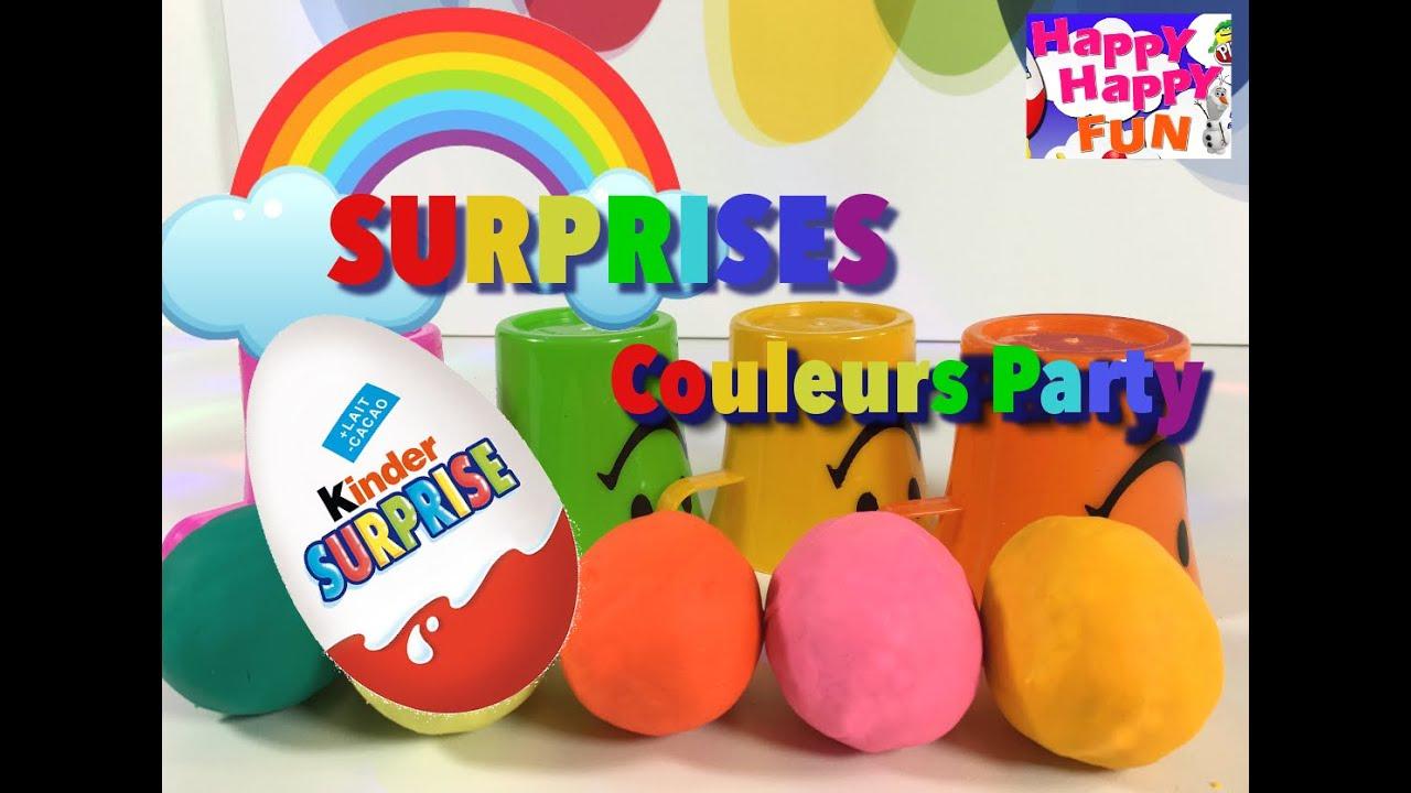 [Jeux Enfant] Apprendre Les Couleurs Surprise Oeufs  Play-Doh   La Reine  Des Neiges  concernant Jeux Apprendre Les Couleurs