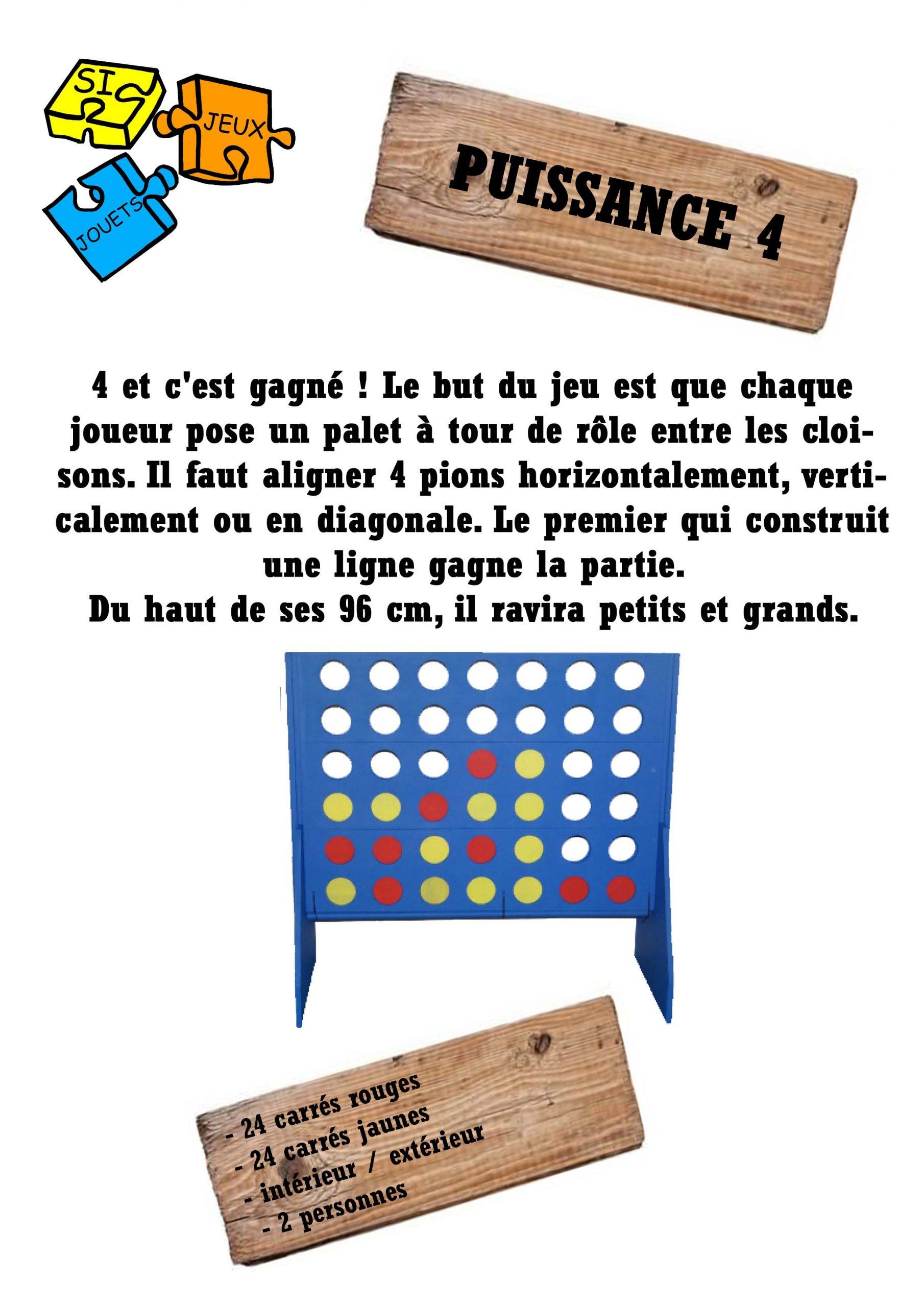 Jeux Geants | Jeux-En-Bois-Geants destiné Jeu Puissance 4 En Ligne