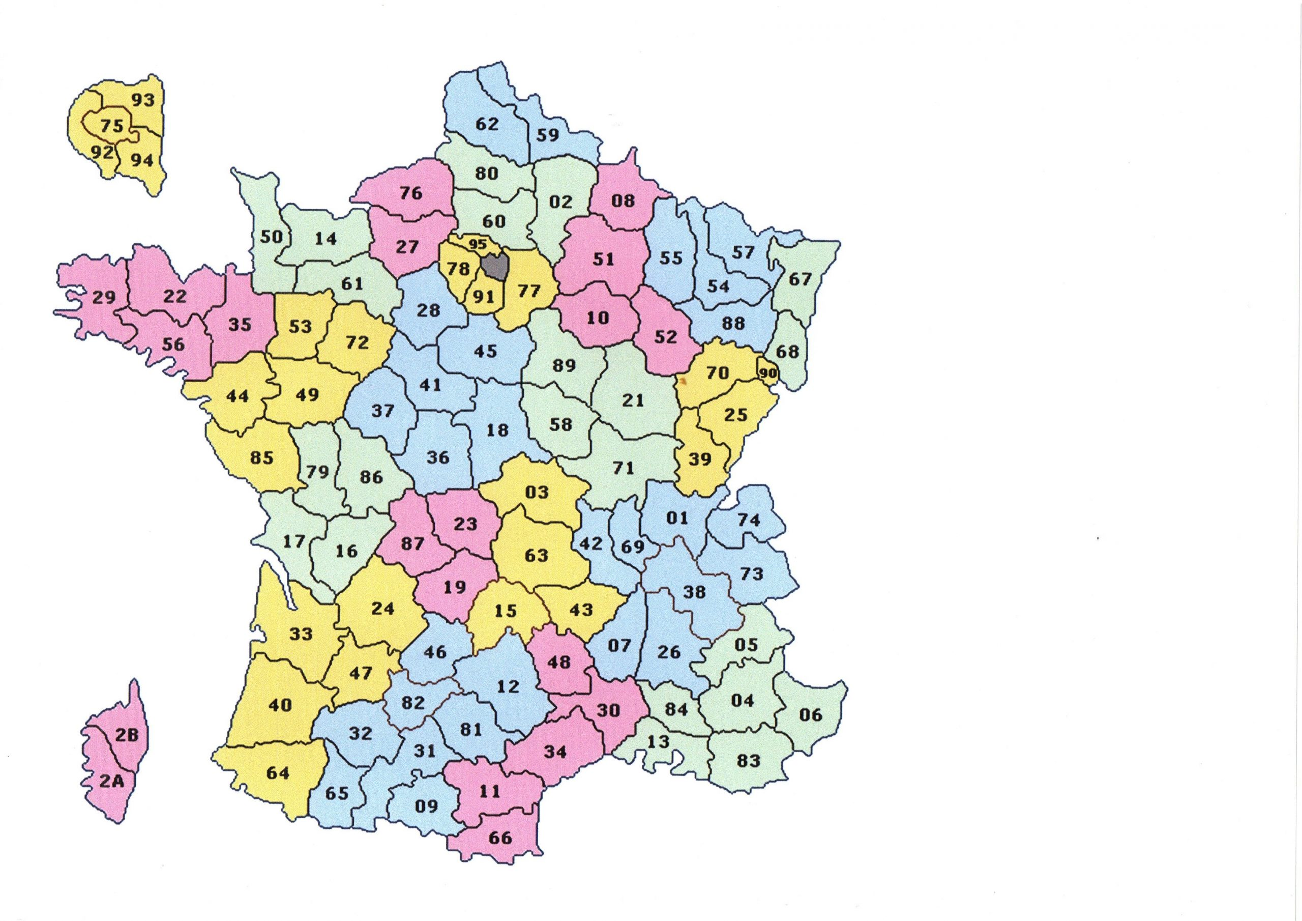 Jeux Geographie Carte De France serapportantà Carte De France Departement À Imprimer