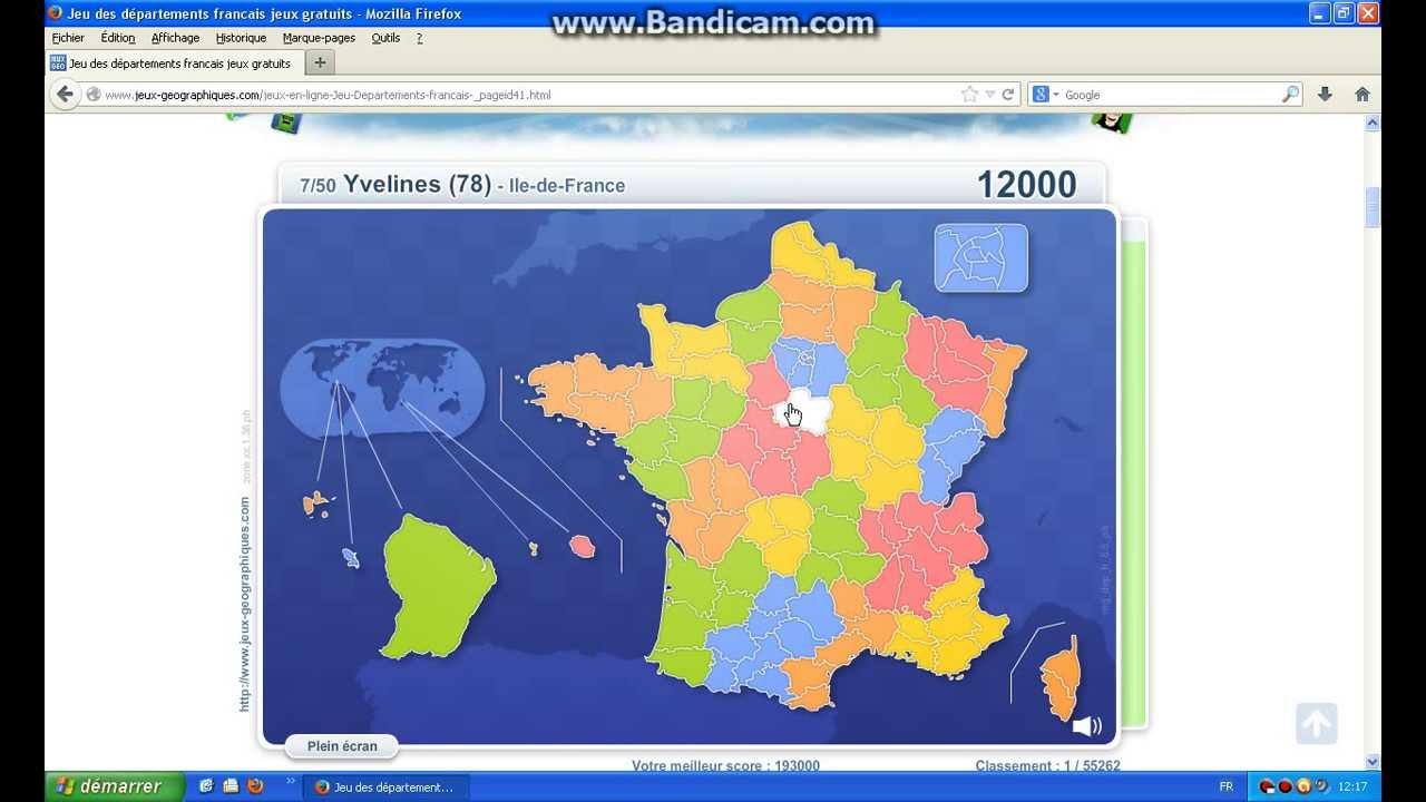 Jeux Géographiques - Départements Français dedans Jeux Des Départements Français