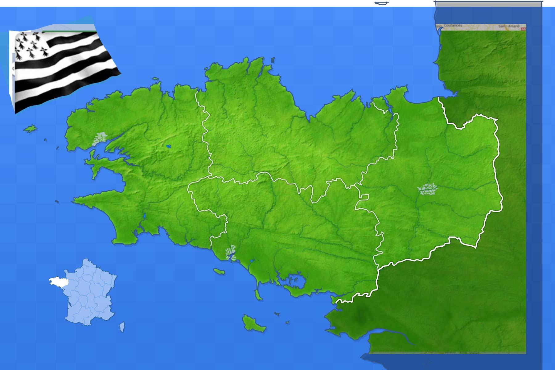 Jeux-Geographiques Jeux Gratuits Villes De Bretagne avec Jeux Des Villes De France