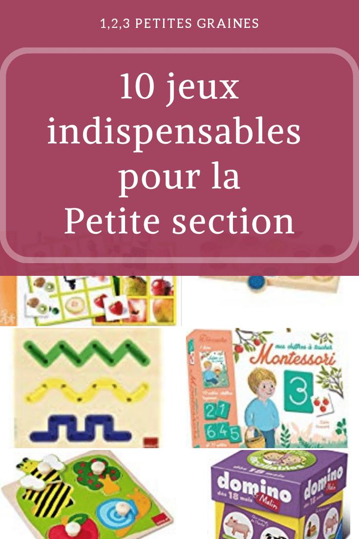 Jeux Indispensables Pour La Petite Section #maternelle concernant Jeux Pour Petite Section