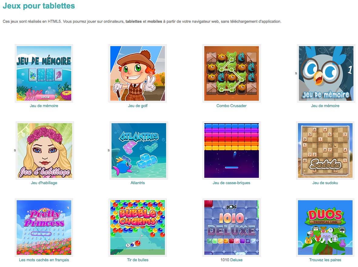 Jeux Ludiques Pour Tablettes #html5 #primaire #préscolaire avec Jeux Ludique En Ligne