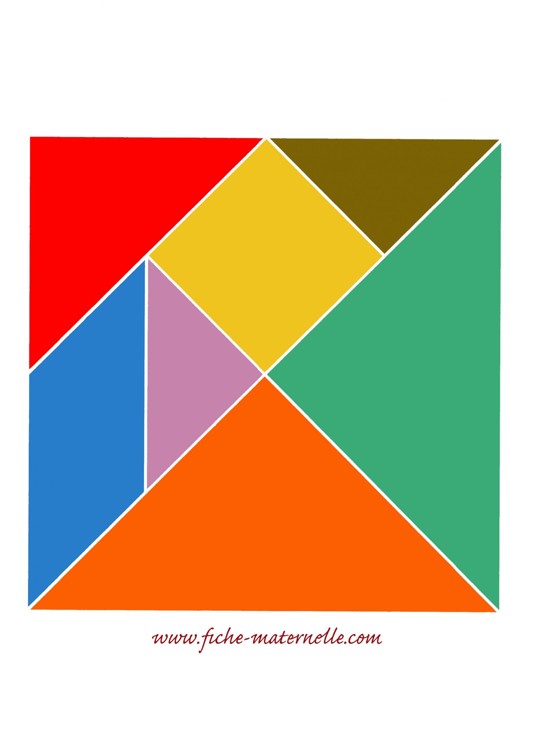 Jeux Mathématiques En Maternelle intérieur Tangram A Imprimer