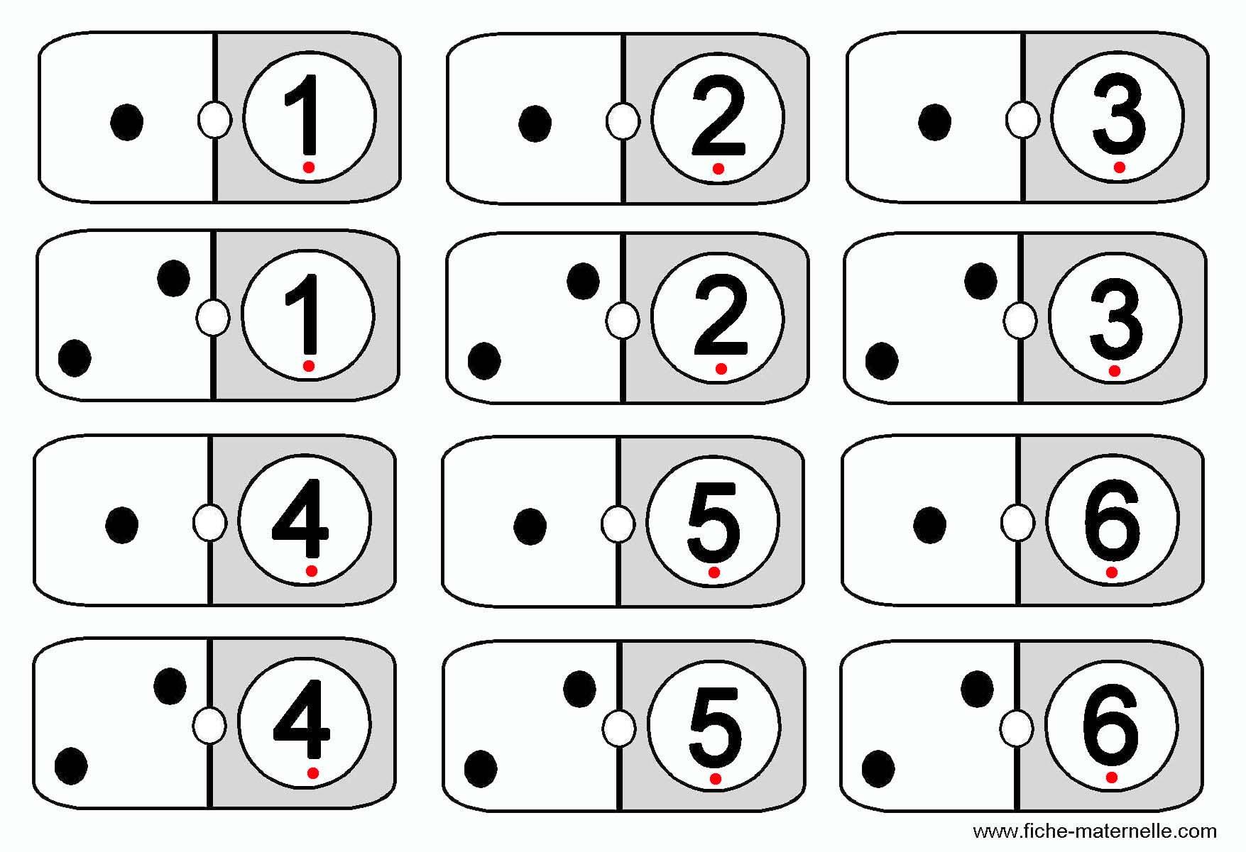 Jeux Mathématiques Pour Apprendre À Compter En Maternelle. pour Dominos À Imprimer