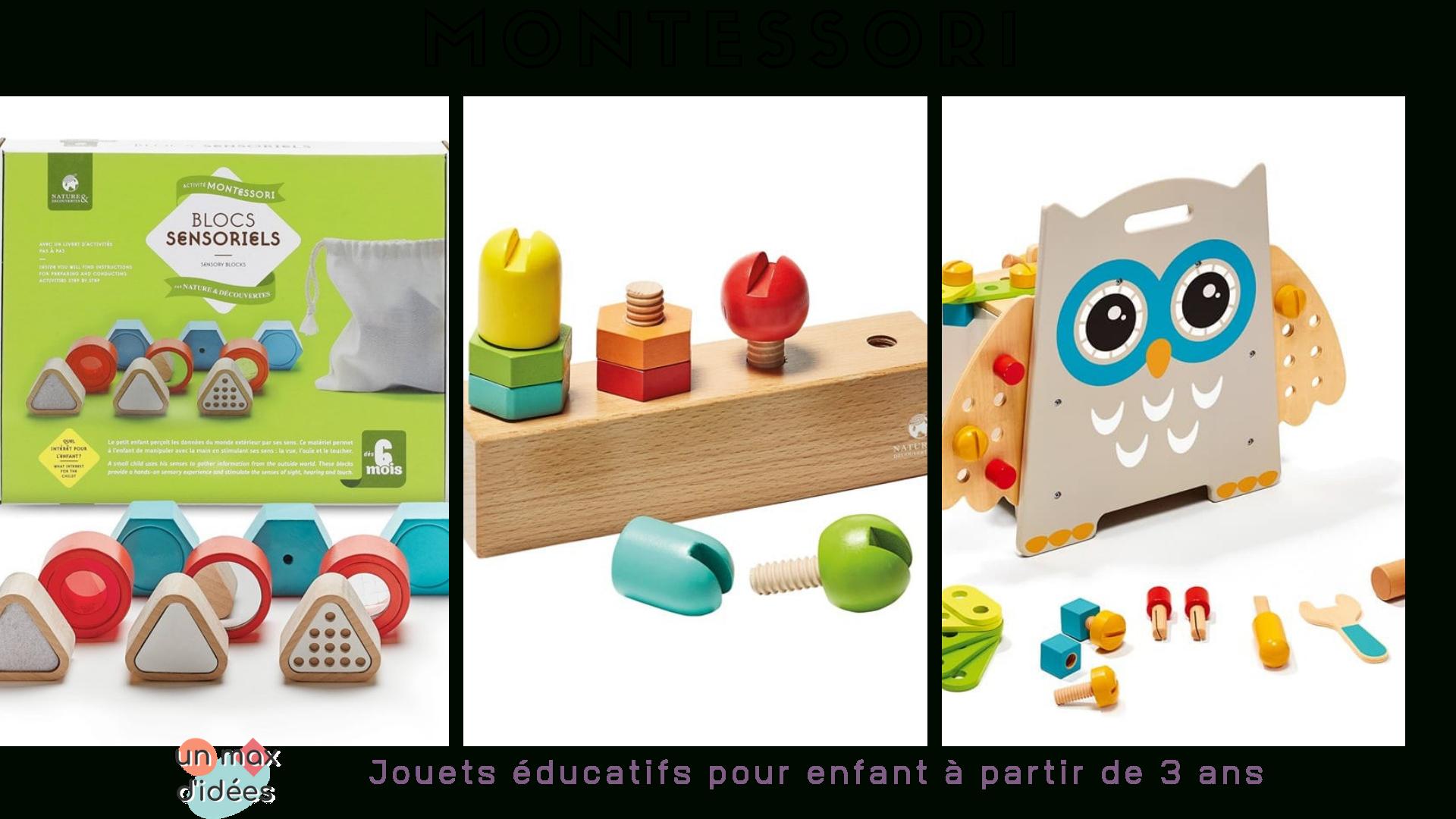 Jeux Montessori Pour Éveiller La Curiosité Des Enfants - Un pour Jeux Ludique Enfant
