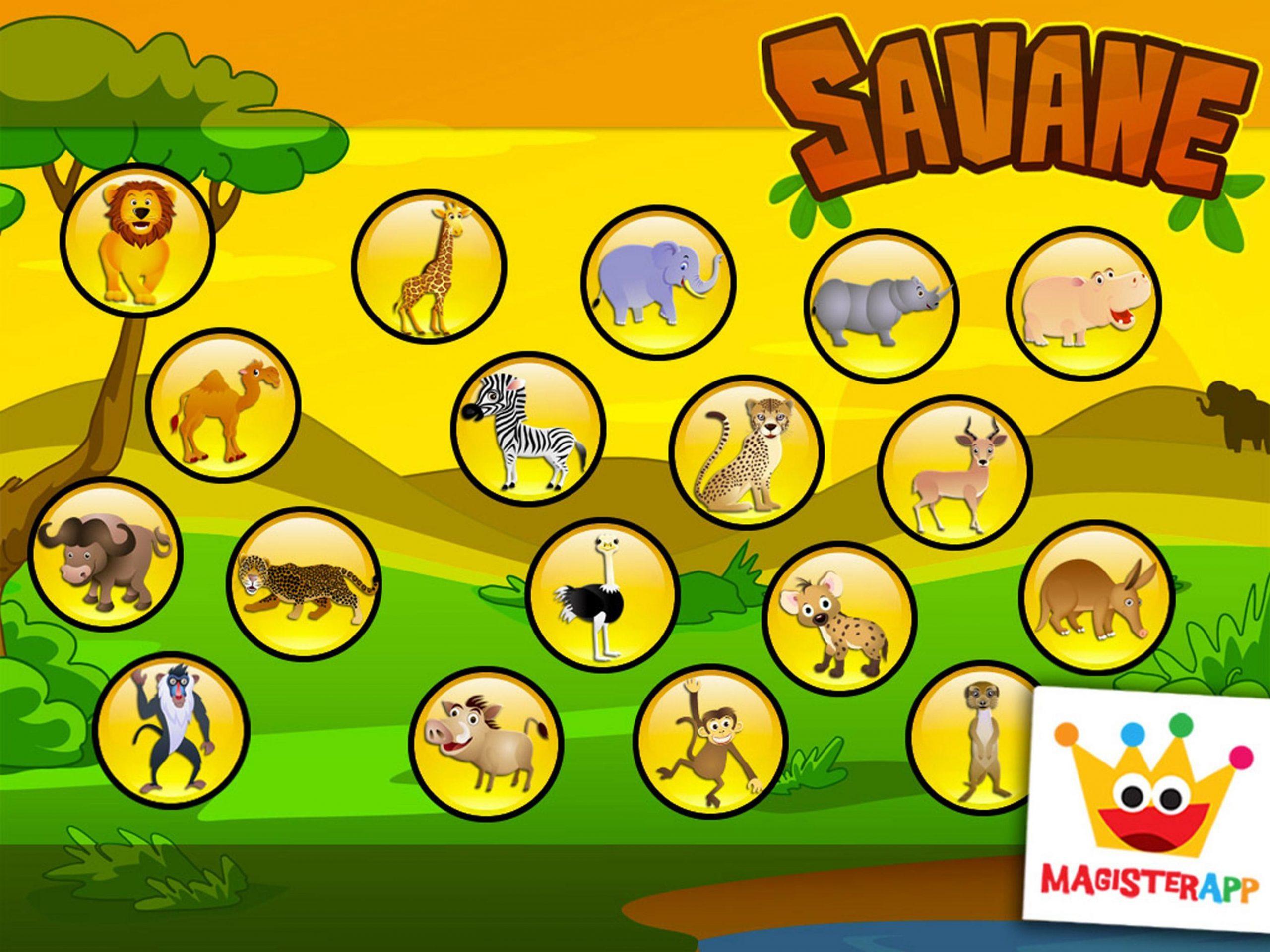 Jeux Pour Enfants Puzzles Et Couleurs De La Savane Pour concernant Jeux De Savane