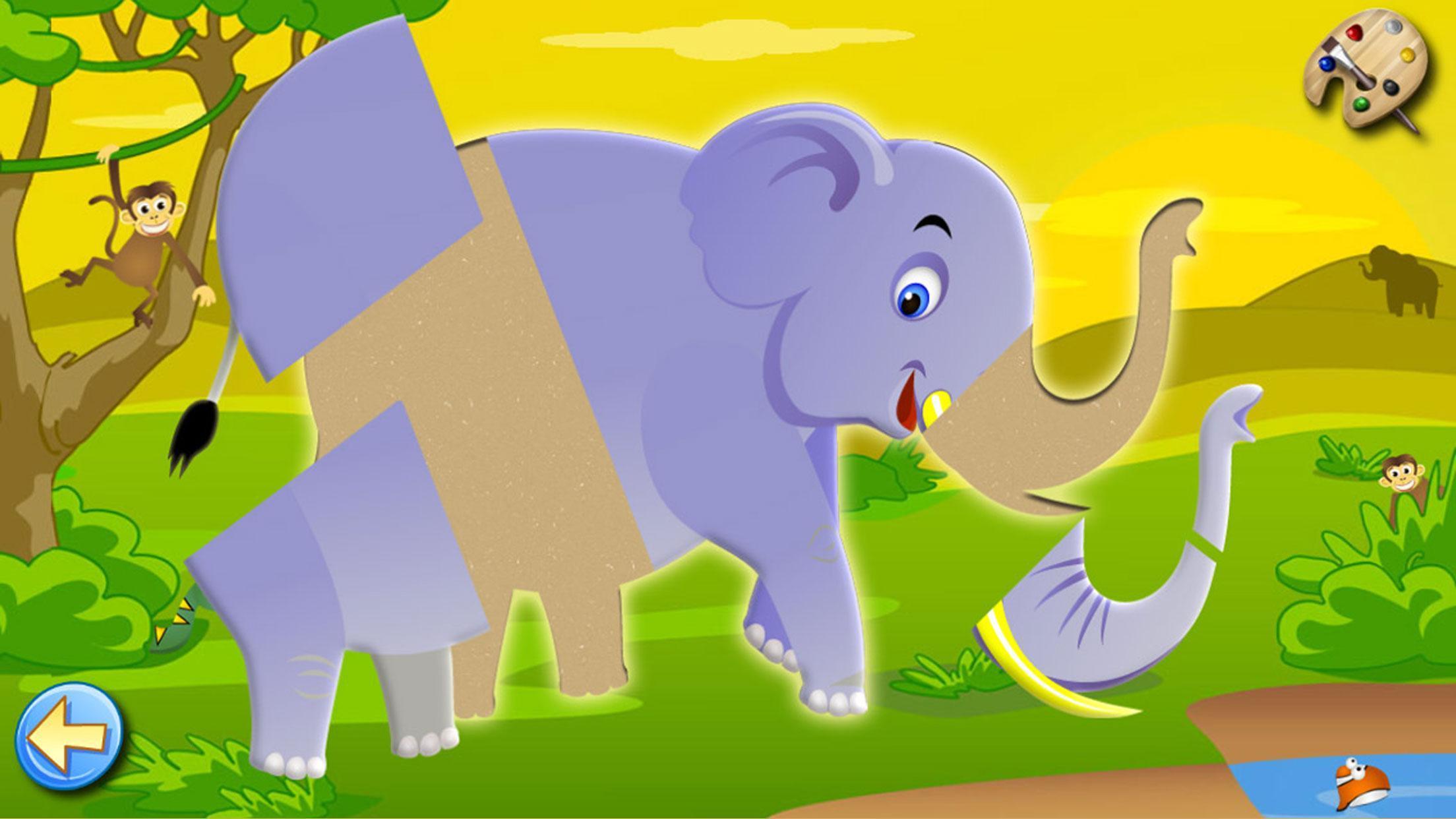 Jeux Pour Enfants Puzzles Et Couleurs De La Savane Pour intérieur Jeux De Savane