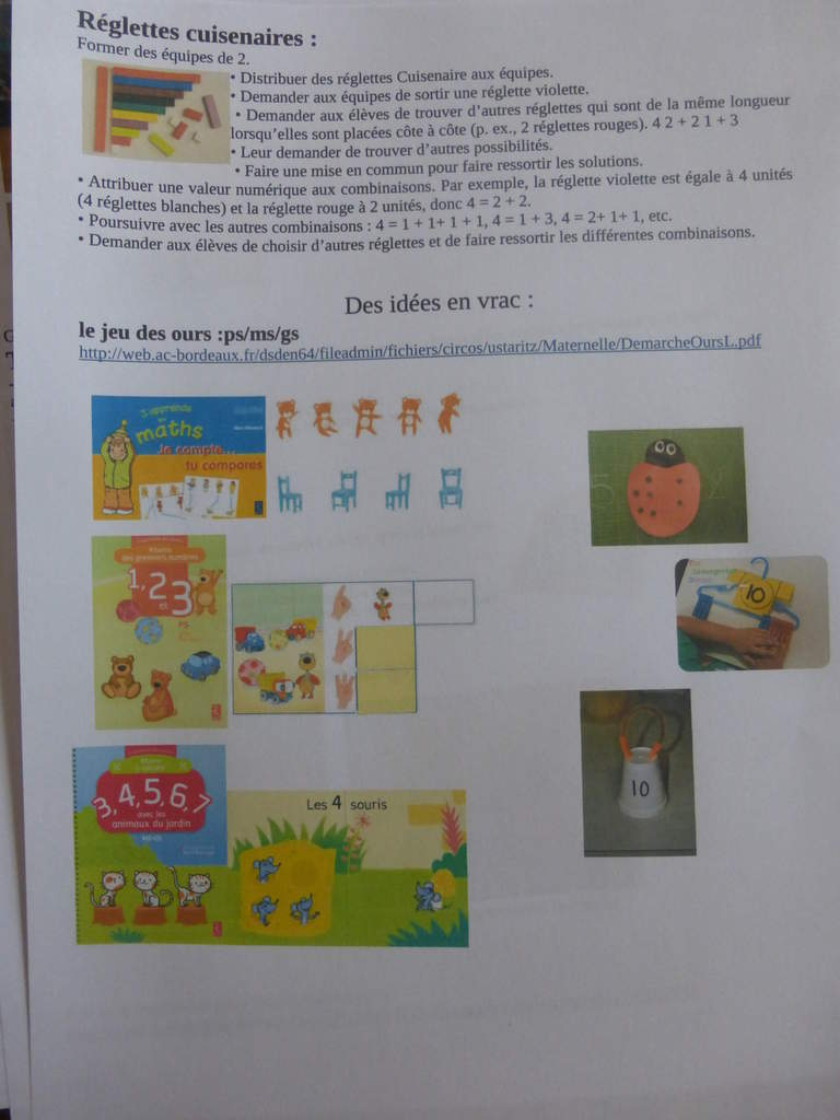 Jeux Pour Les Décompositions Du Nombre En Maternelle Cycle 1 concernant Jeux Avec Des Nombres