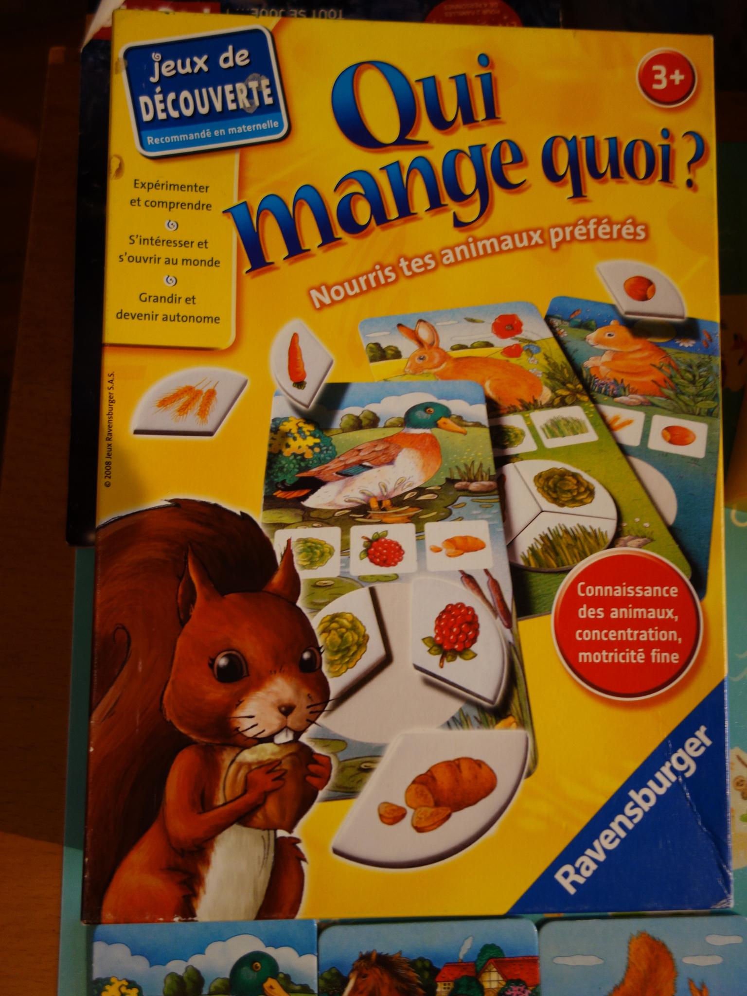 Jeux] Qui Mange Quoi? - Ravensburger - Récréamam, Le Blog D dedans Jeux Pour Manger