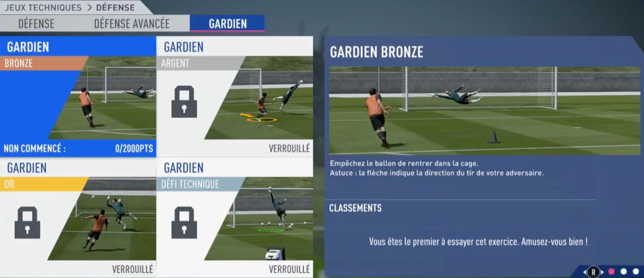 Jeux Techniques Gardien - Soluce Fifa 19 | Supersoluce destiné Jeux De Gardien