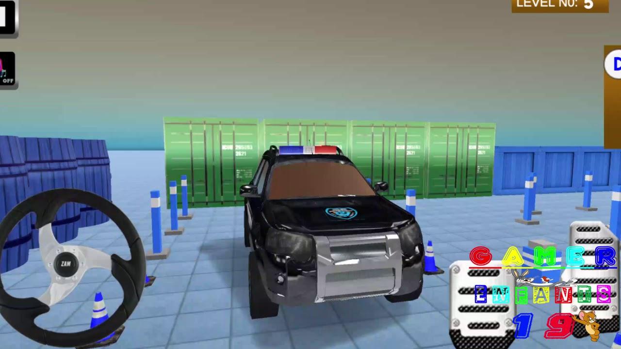 Jeux Voiture Parking Police - Jeux Pour Enfants encequiconcerne Jeux De Voitures Pour Enfants