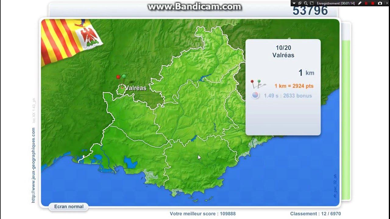 Jg N°9 : Villes De Paca (109 992) avec Jeux Geographique