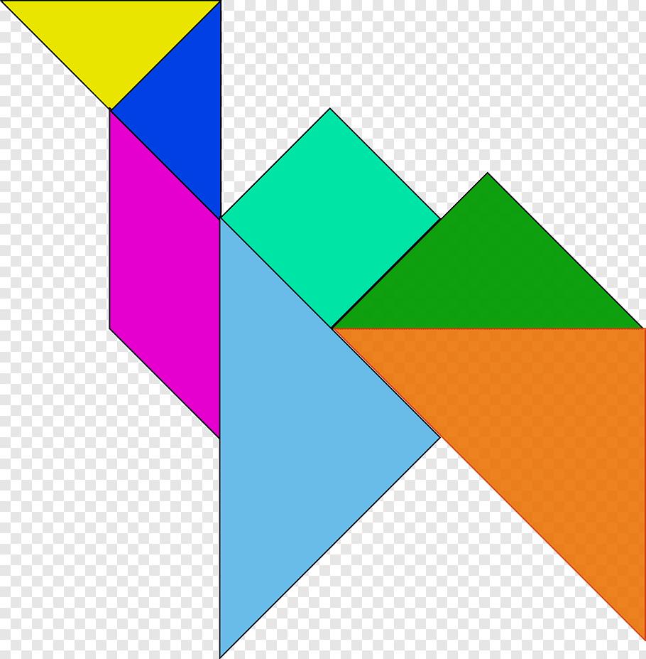 Jigsaw Puzzles Tangram Free Geometric Shape, Svg Png | Pngbarn serapportantà Tangram Chat