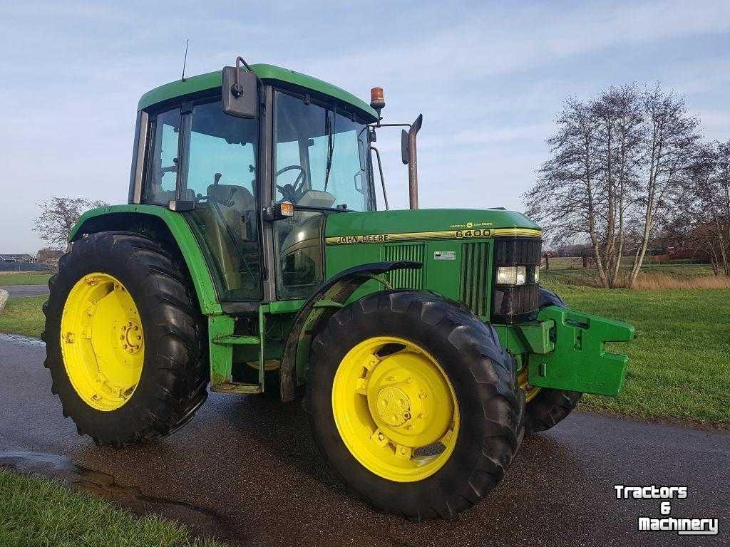 John Deere 6400 4Wd Traktor Tractor Tracteur - Used Tractors - 8517 Hn -  Scharsterbrug - Friesland - Netherlands (The) dedans Image Tracteur John Deere