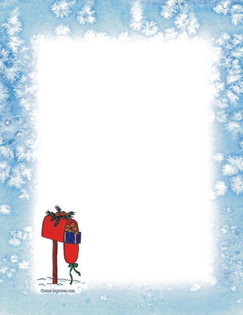 Joli Papier À Lettre Virtuel Gratuit | Lettre Pere Noel destiné Papier Lettre De Noel
