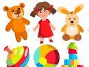 Jouets Maternelle Vecteur. Les Éléments Colorés Pour Enfants encequiconcerne Jeux Enfant Maternelle