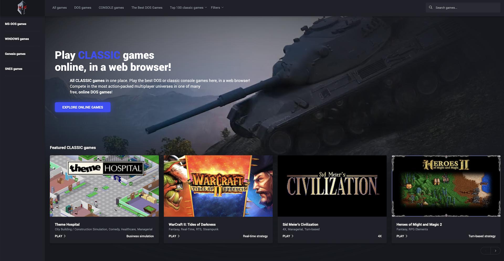 Jouez À De Vieux Jeux Pc Et Console Gratuitement Depuis pour Jeux En Ligne Pc Gratuit