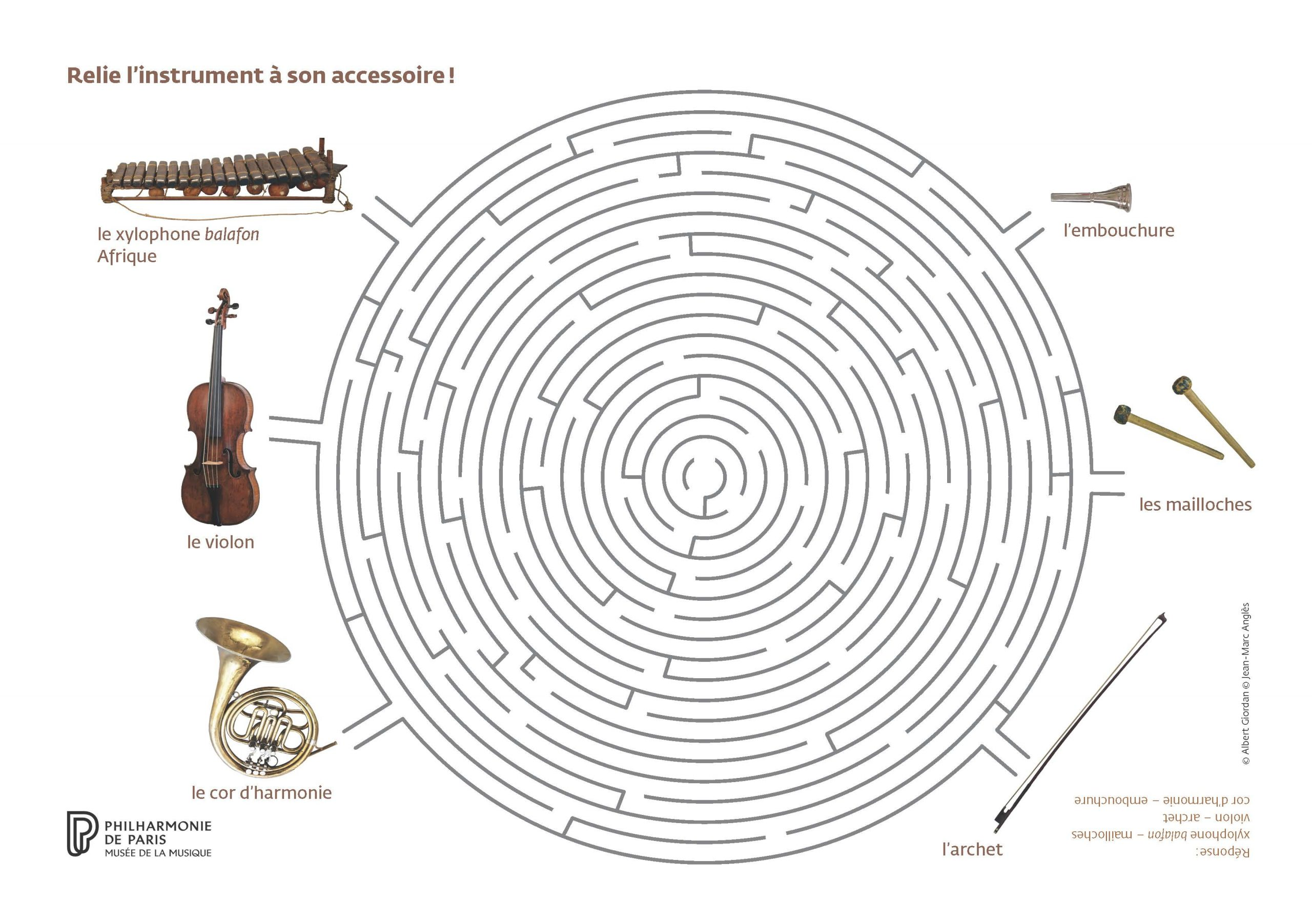 Jouez Avec Les Instruments Du Musée ! | Philharmonie De Paris dedans Points À Relier Adulte