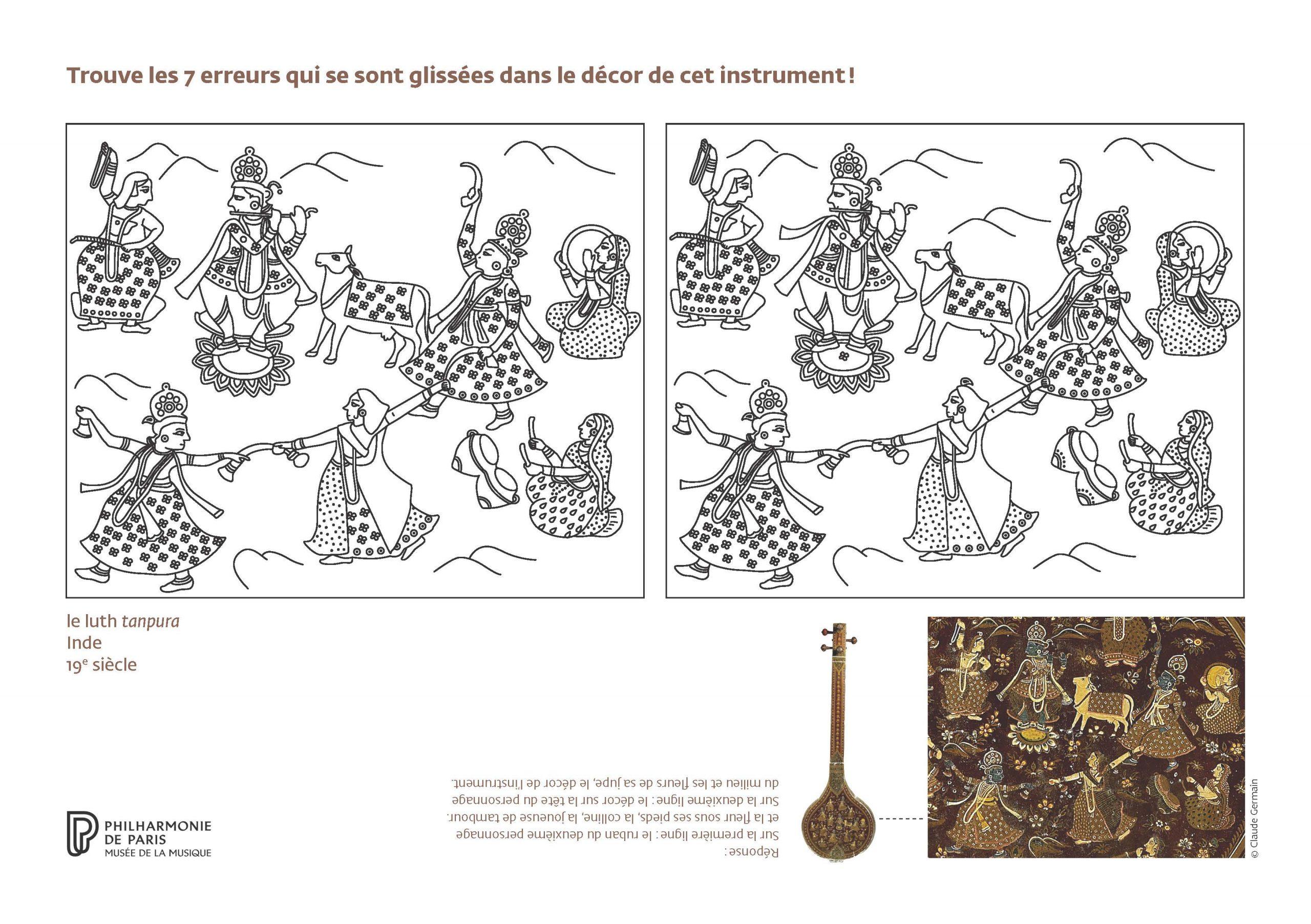 Jouez Avec Les Instruments Du Musée ! | Philharmonie De Paris encequiconcerne Jeu Des 7 Différences À Imprimer