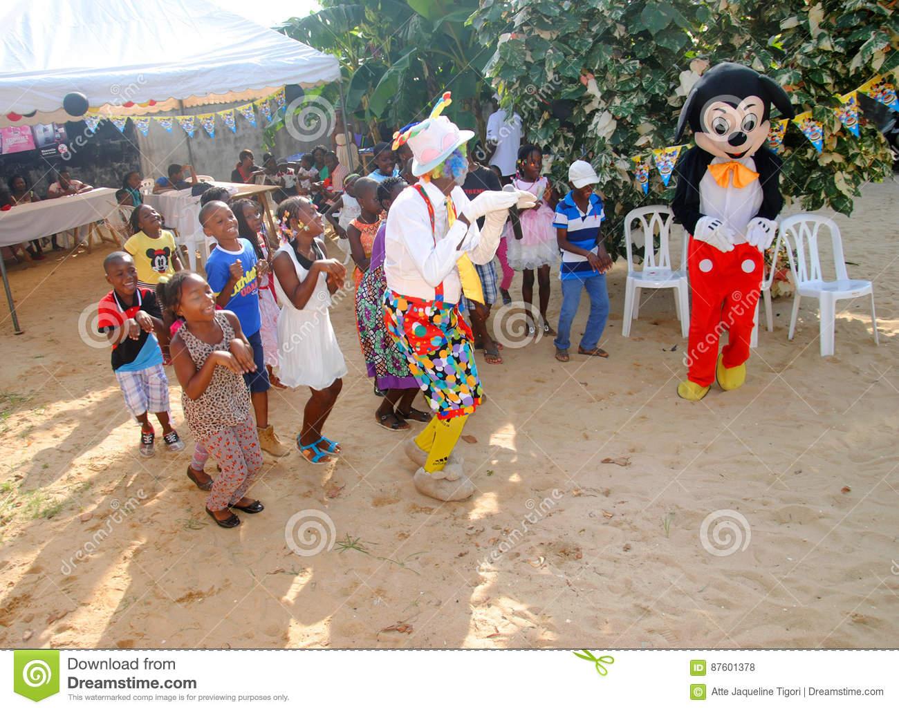 Jour Du ` S D'enfants En Afrique Photo Stock Éditorial à Jeux Africains Pour Enfants