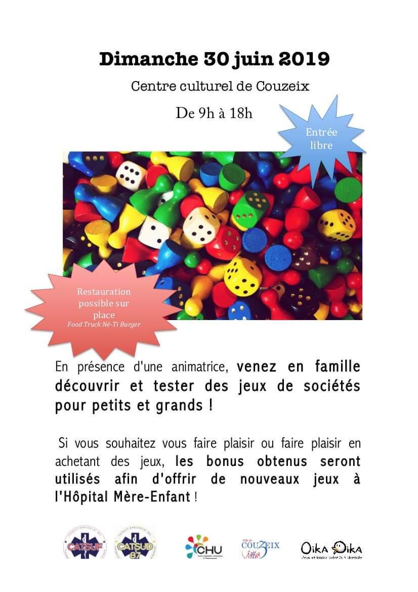 Journée Jeux De Société Au Profit De L'hôpital Mère Enfant serapportantà Jeux Flash Enfant