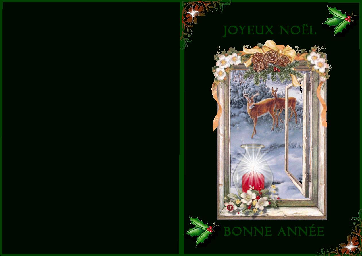 Joyeux Noel Et Bonne Année tout Carte Joyeux Noel À Imprimer