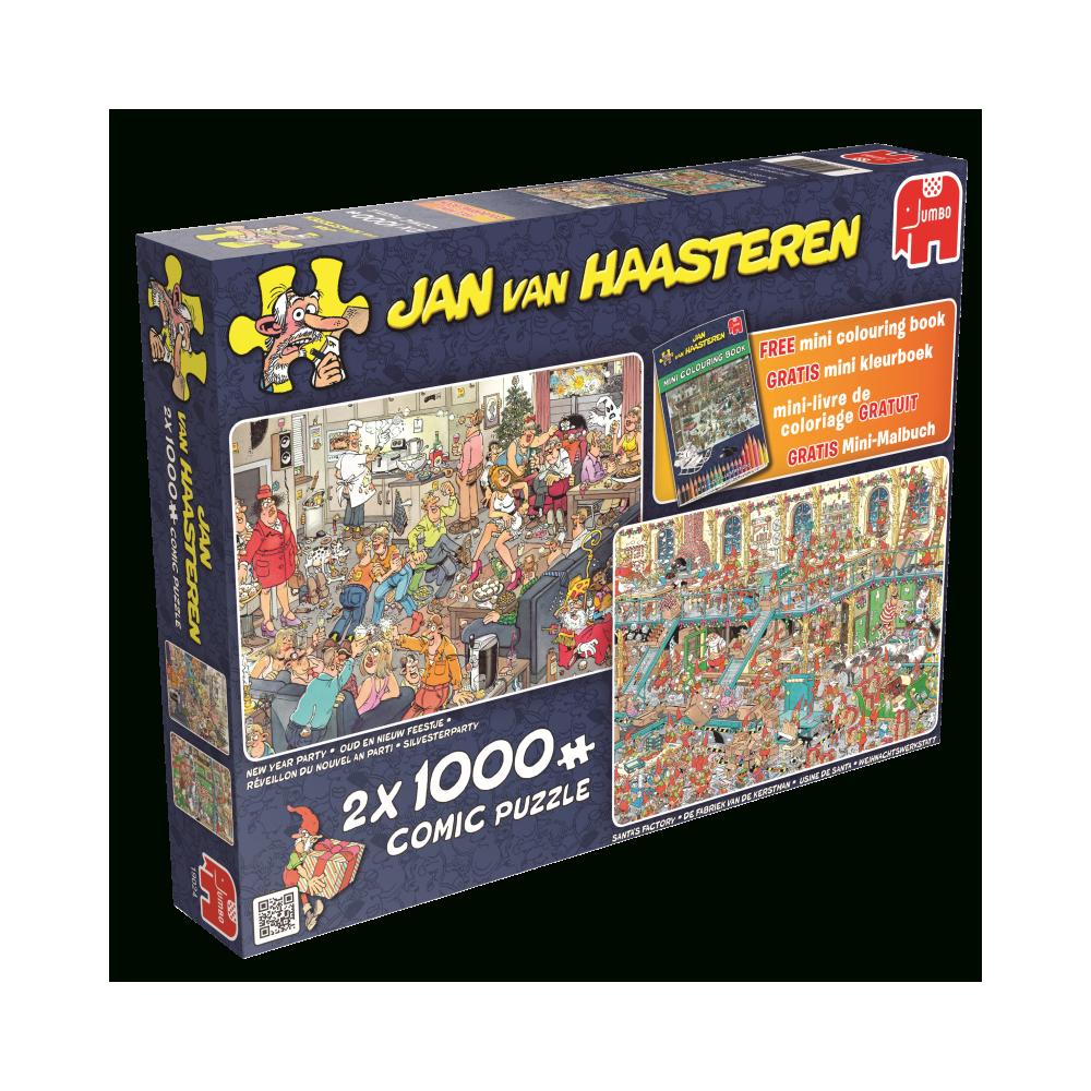 Jumbo Happy Holidays, Jan Van Haasteren 2X1000 Parça Puzzle encequiconcerne Puzzle Photo Gratuit