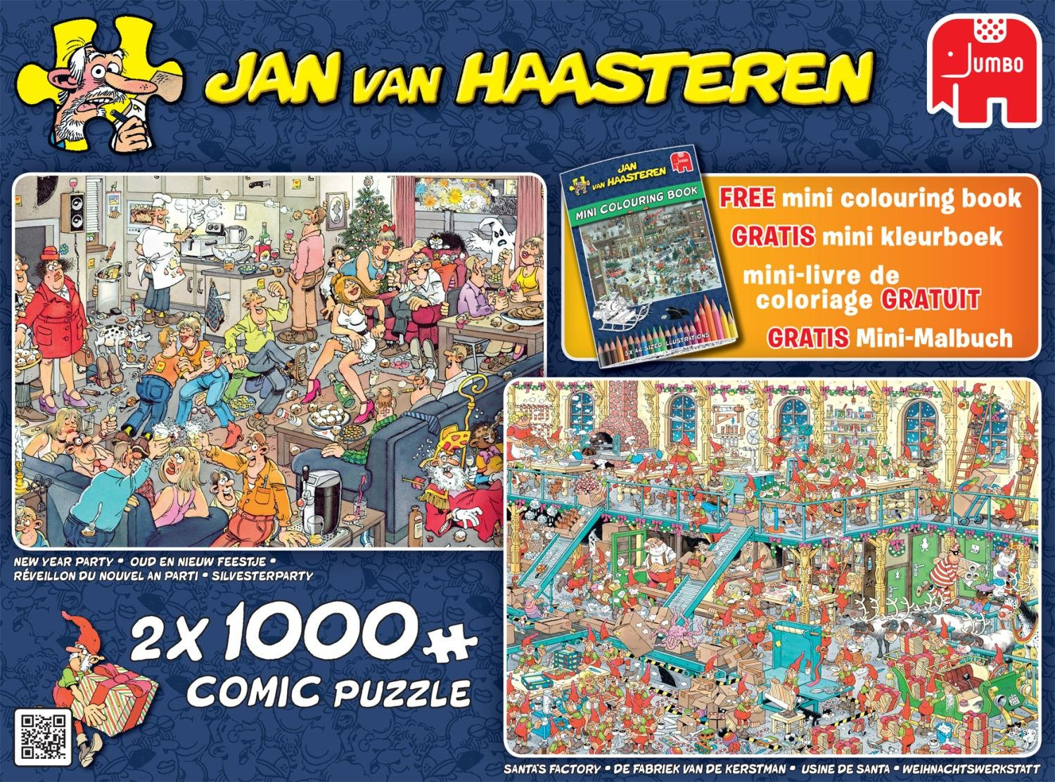 Jumbo Jan Van Haasteren New Year Party & Santa's Factory à Puzzle Photo Gratuit
