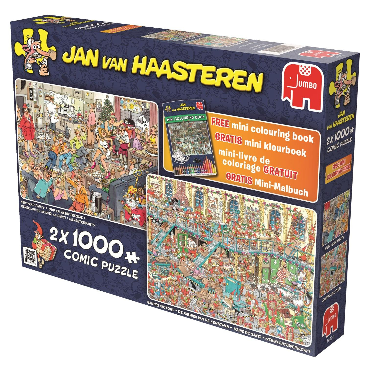 Jumbo Jan Van Haasteren New Year Party & Santa's Factory Jigsaw Puzzle concernant Puzzle Photo Gratuit