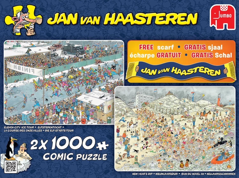 Jumbo Kış Eğlenceleri 2X1000 Parça Puzzle encequiconcerne Puzzle Photo Gratuit