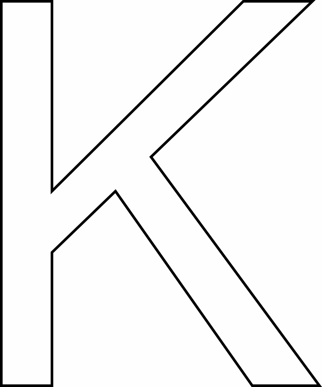 K Majuscule - Motif À Décorer concernant Lettres Majuscules À Imprimer