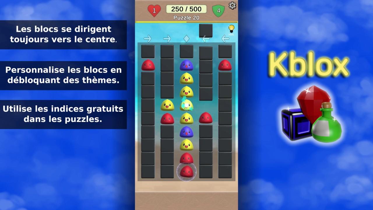 Kblox - Présentation Français - Jeu Puzzle Android Gratuit serapportantà Jeu En Francais Gratuit