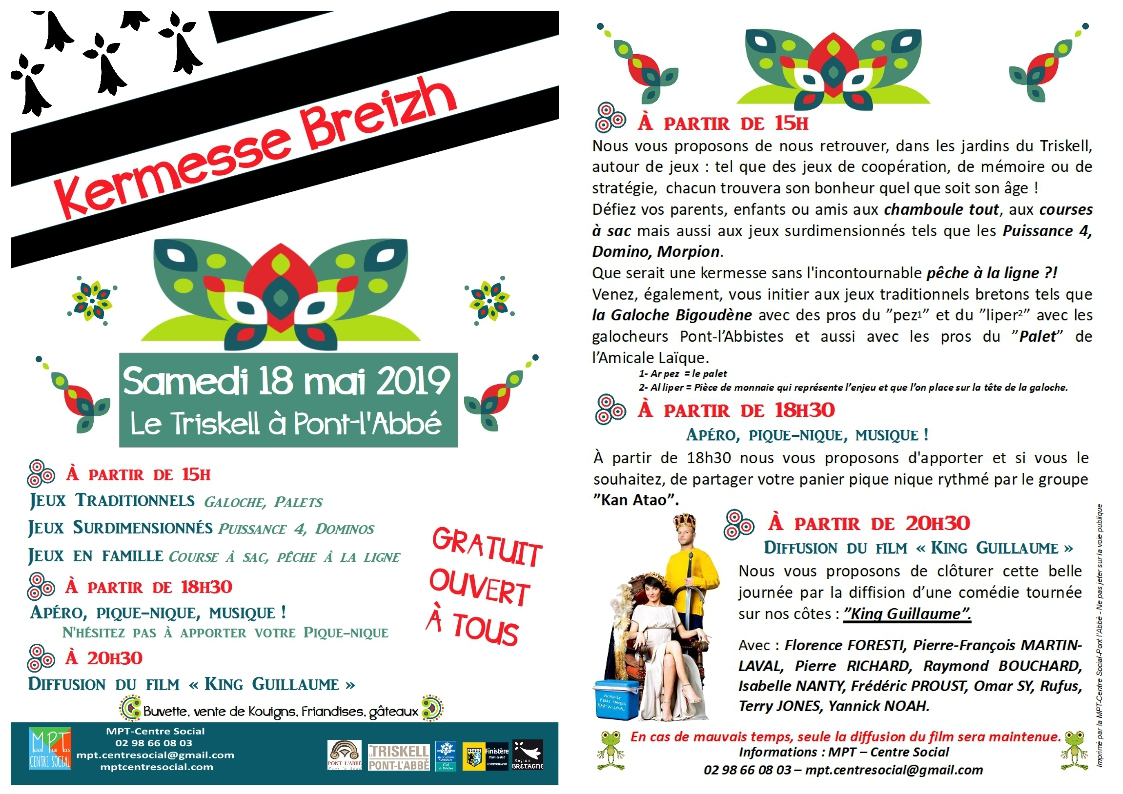 Kermesse Breizh Pont-L'abbé - 18-05-2019 A Partir De 15H00 concernant Jeu De Puissance 4 Gratuit En Ligne