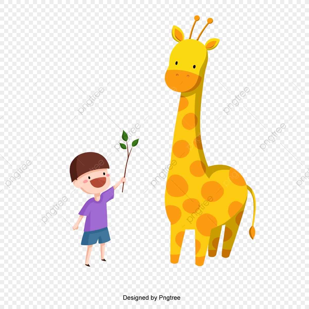 Kid Et La Girafe Vecteur, La Division Du Secteur Privé avec Jeux De Girafe Gratuit