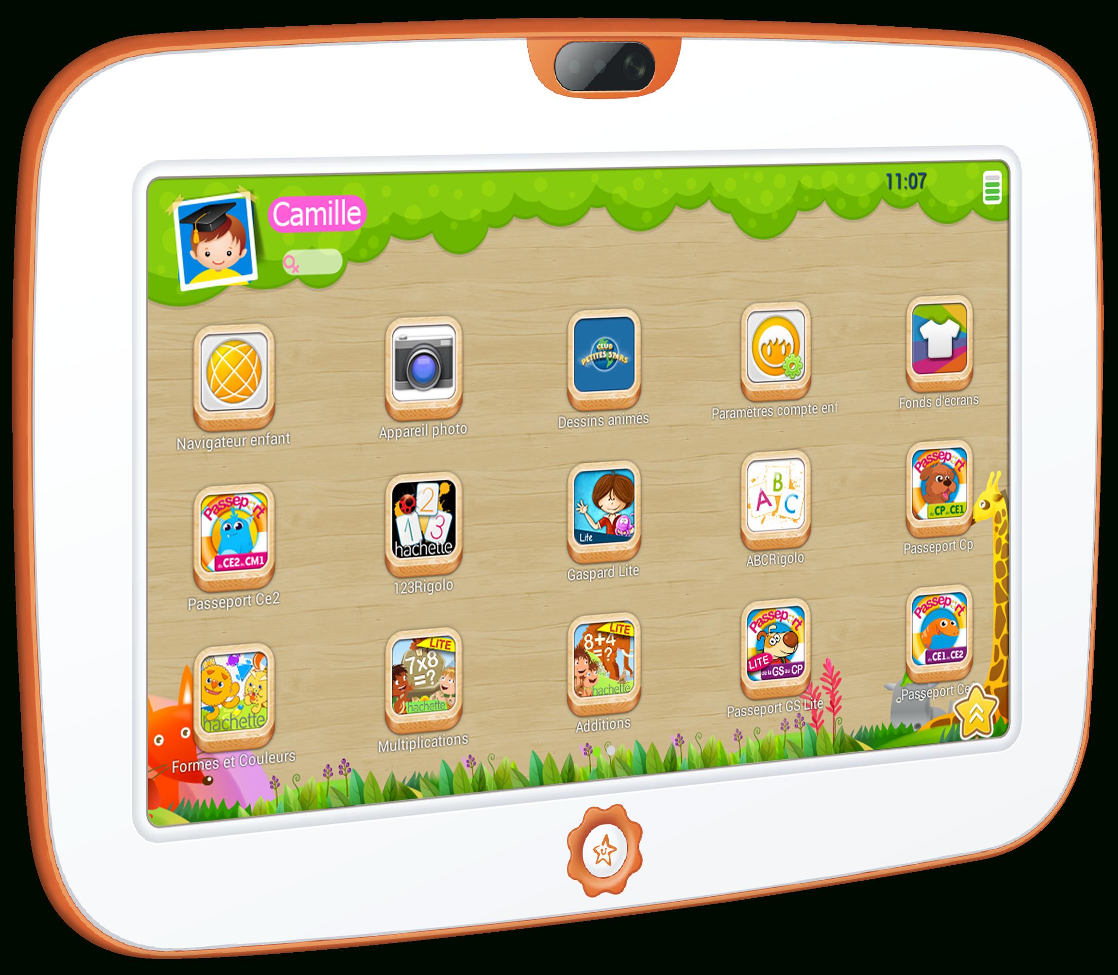 Kid Tab La Nouvelle Tablette Pour Enfant | Sur Le Nuage De Lexou tout Tablette Enfant Fille
