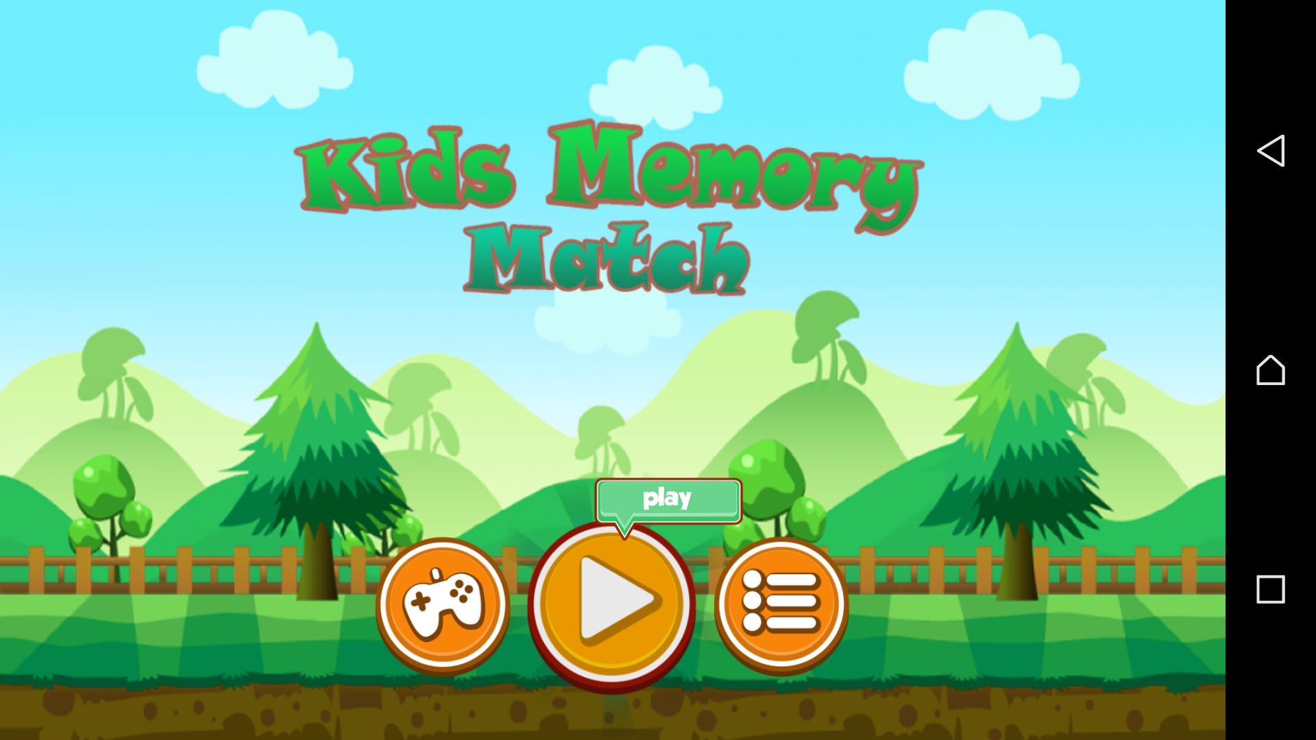 Kids Memory Games & Jeux De Mémoire Des Enfants For Android à Jeu Memory Enfant