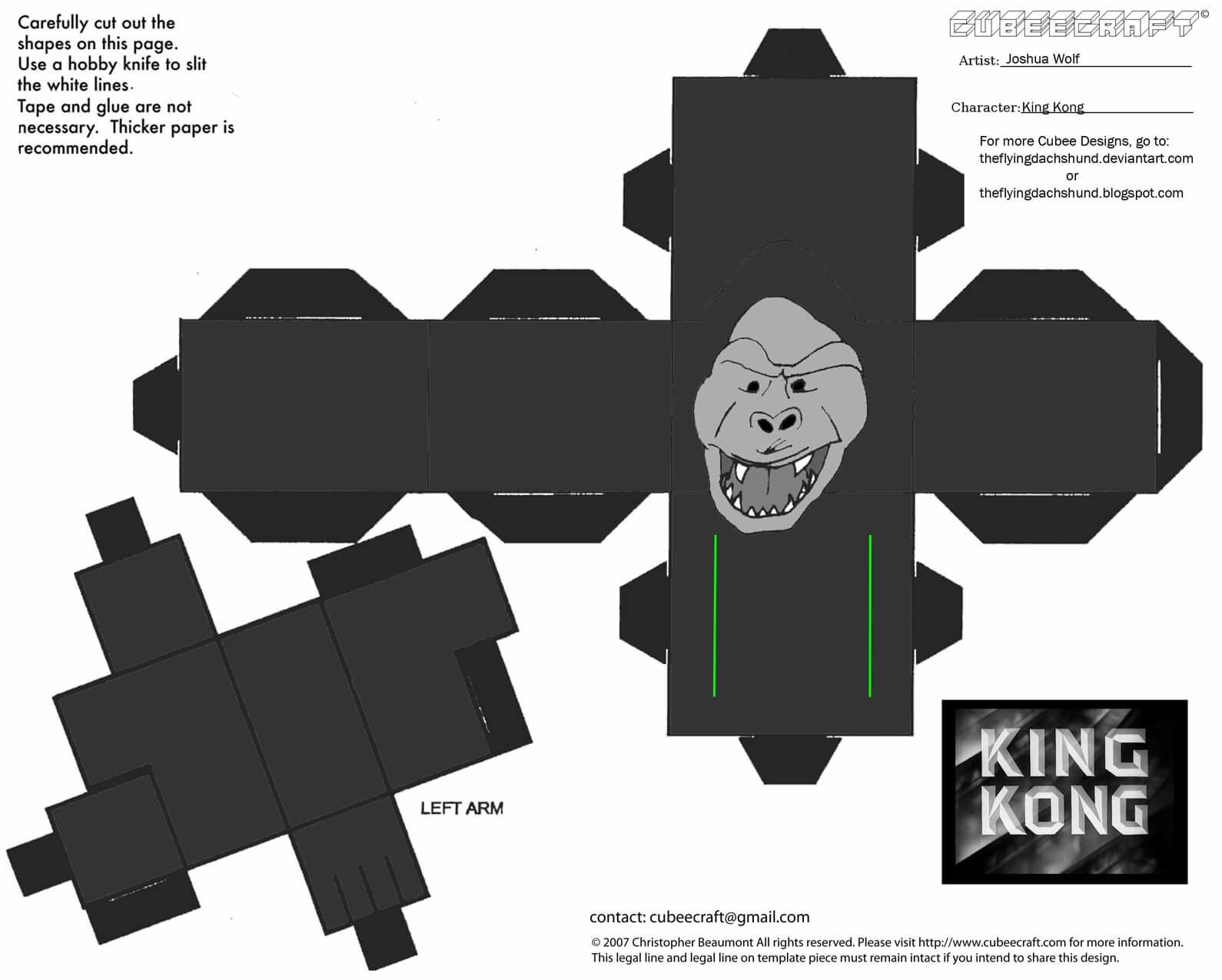 King Kong Papercraft Toy | Free Printable Papercraft Templates tout Paper Toy Gratuit