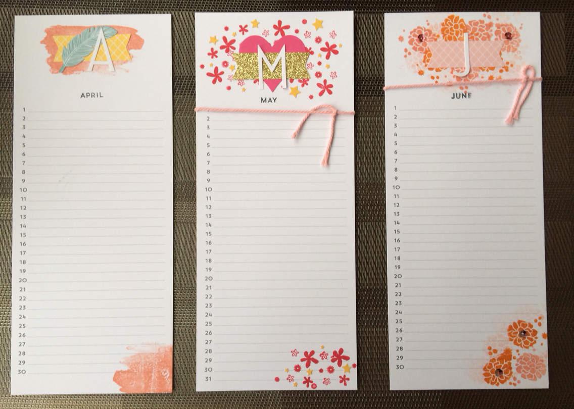 Kit Calendrier Perpétuel Stampin Up ❤️ - Blog De Ola Scrap tout Calendrier Anniversaire Perpétuel À Imprimer